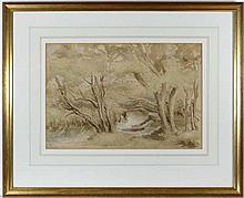 Frank W Francis Carter (1870-1933) Pen ink and
