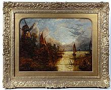 Joseph Paul (1804-1887) Norwich School Oil on