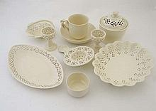 A quantity of contemporary Creamware breakfast
