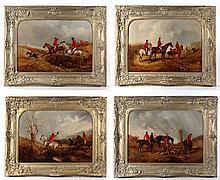 Hunting : Richard Dodd Widdas ( 1826-1885 ) Oil on