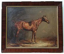 J Crawford Wood XIX-XX Equine Oil on canvas