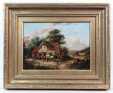 Georgina Lara (Act. 1840 - 1880) Oil on canvas