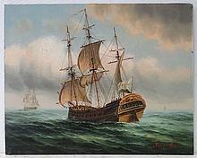 James Hardy XX Marine School Oil on panel An 18th