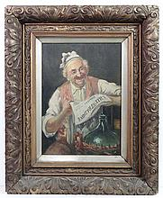 XIX- XX Italian School Oil on canvas Italian