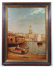 Indistinctly signed Early XX Italian School Oil on