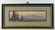 Italian School (Early XX) Watercolour ' The Appian