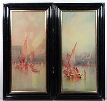 Anton Perique XIX-XX Venetian School Watercolours,