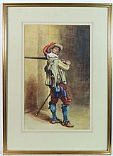 A Lester-Carr (1910) Watercolour 16th / 17thC