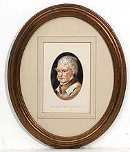 J Murhay mid XX, Watercolour oval, Portrait of Jam