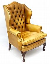 A late 20thC Georgian style light tan leather butt