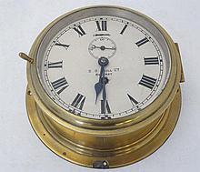 Ship's Clock : ' SD Neill Ltd Belfast' brass cased