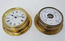 Ships Clock & Barometer : '' Foster Callear '' two