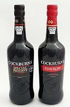 Port : 2 bottles , Cockburns Special Reserve , c.2015  & Cockburns ,  Fine Ruby Port , c.2015