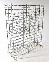 Wine rack : An aluminium double sided wine rack ( holds approx 384 bottles)  approx 66'' high x 55'' wide x 16'' deep
