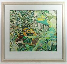 Diana Ashdown XX Watercolour ' Two Great Hornbills