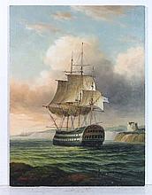 James Hardy XX Marine School Oil on board ' Three