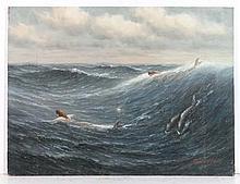 James Hardy XX Marine School Oil on board '