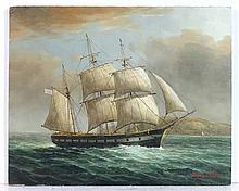 James Hardy XX Marine School Oil on board ' An