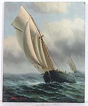 James Hardy XX Marine School Oil on board ' Two