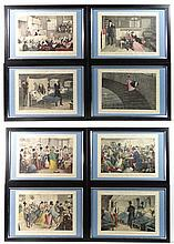 After George Cruikshank ( 1848) 8 hand coloured