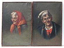 C.1900 continental School Oils on canvas, a pair
