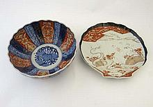 Japanese Imari : two items comprising a bowl with