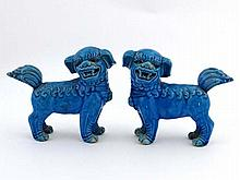 Oriental Temple Dogs ( Dog of Fo ) : a pair of