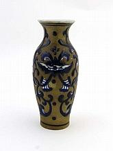 Chinese Vase : An early 20 thC Enamel decorated