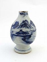 Chinese Ceramic Lamp : an 18 / 19thC bulbous