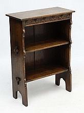 Shepherd & Hedger : An early - mid 20thC oak open bookcase 33'' high x 24'' wide x 10 3/4'' deep