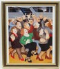 Beryl Cook (1926-2008), Coloured print, Sing along, Aperture 11 3/8 x 8 1/2''. This image has resided at a framers for approximately 40 years !  Please note this lot may be subject to Artists re-sale rights. (ARR)., Beryl Frances Cook, £32