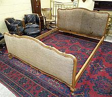 A French Louis XV style large bed 69'' wide x 40 1/2'' high