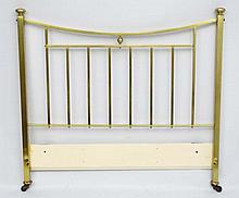 A  late 19thC brass bed head  53 1/2'' wide x 50'' high