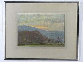 Mary Yates (1891-c1975) Pastel Rydale, Hart Head