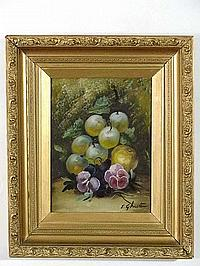 Evelyn Chester XX Oil on canvas Still life of