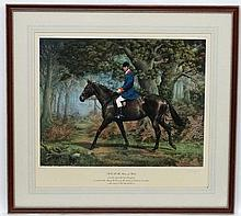 Hunting :, Susan L Crawford (1941), Limited edition signed coloured print 1