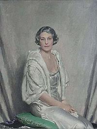 Howard Somerville (XIX-XX) Oil on Canvas Portrait