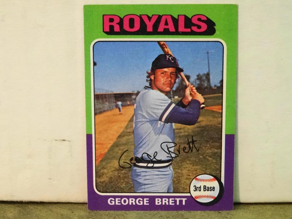1975 TOPPS NO. 228 GEORGE BRETT BASEBALL CARD