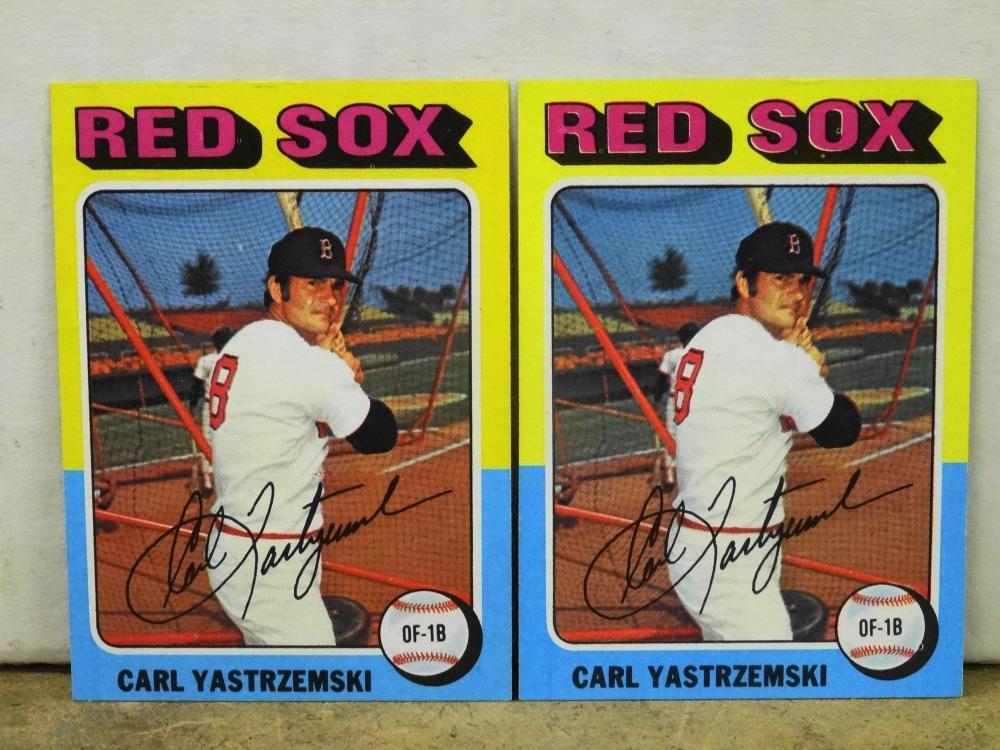 2 1975 TOPPS NO. 280 CARL YASTRZEMSKI BASEBALL CARDS