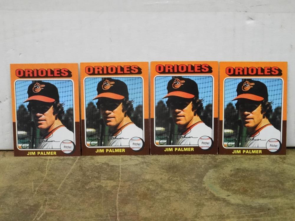 4 1975 TOPPS NO. 335 JIM PALMER BASEBALL CARDS
