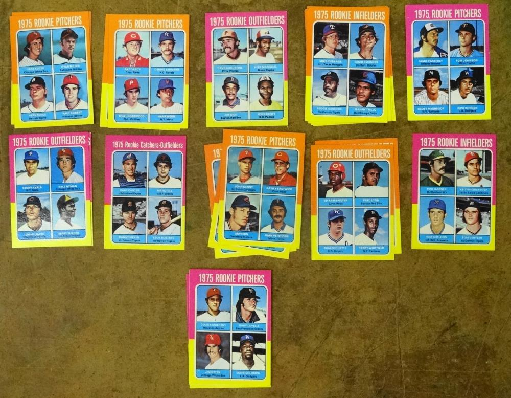 SET OF 1975 TOPPS ROOKIE BASEBALL CARDS