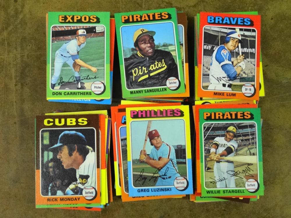 343 1975 TOPPS BASEBALL CARDS