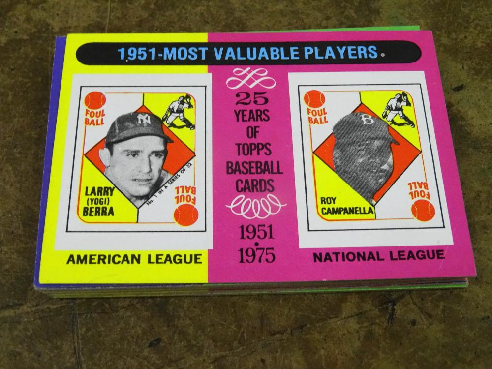 20 1975 TOPPS MOST VALUABLE PLAYERS BASEBALL CARDS
