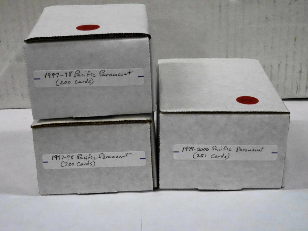 3 SETS OF PACIFIC PARAMOUNT HOCKEY CARD SETS