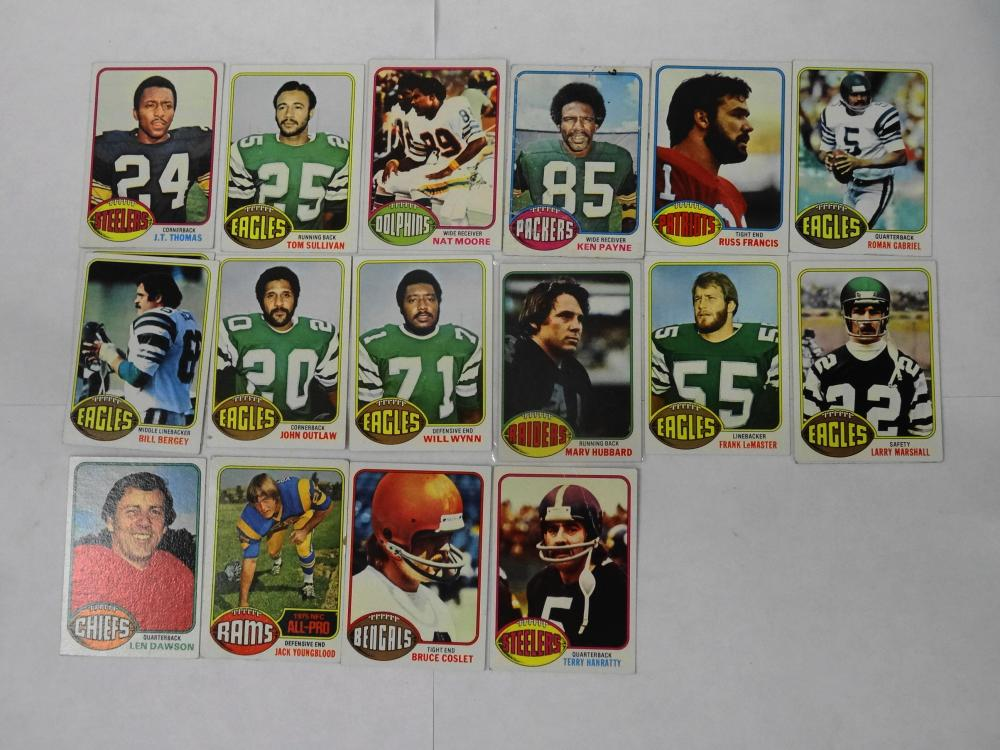 18 1976 TOPPS FOOTBALL CARDS