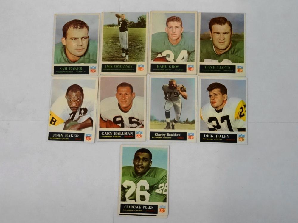 11 1965 PHILADELPHIA FOOTBALL CARDS