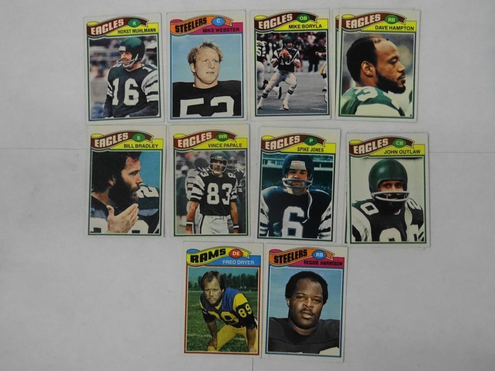 12 1977 TOPPS FOOTBALL CARDS