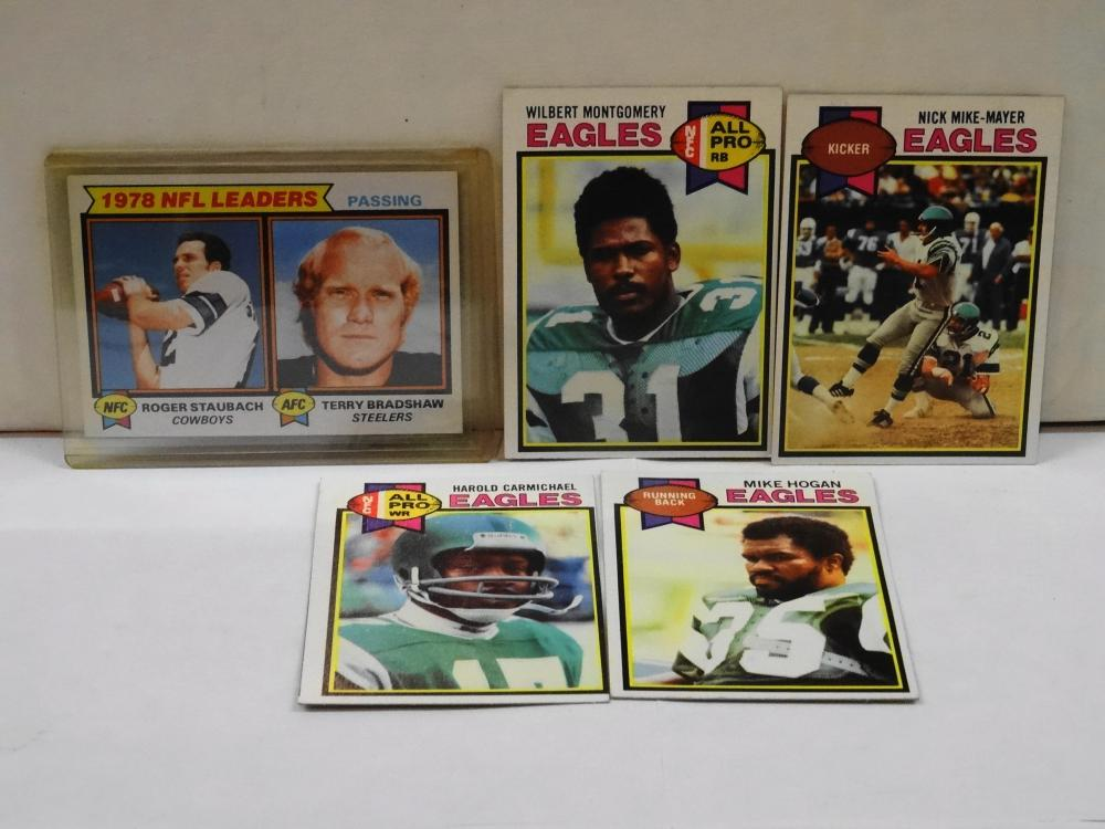 5 VINTAGE 1979 TOPPS FOOTBALL CARDS