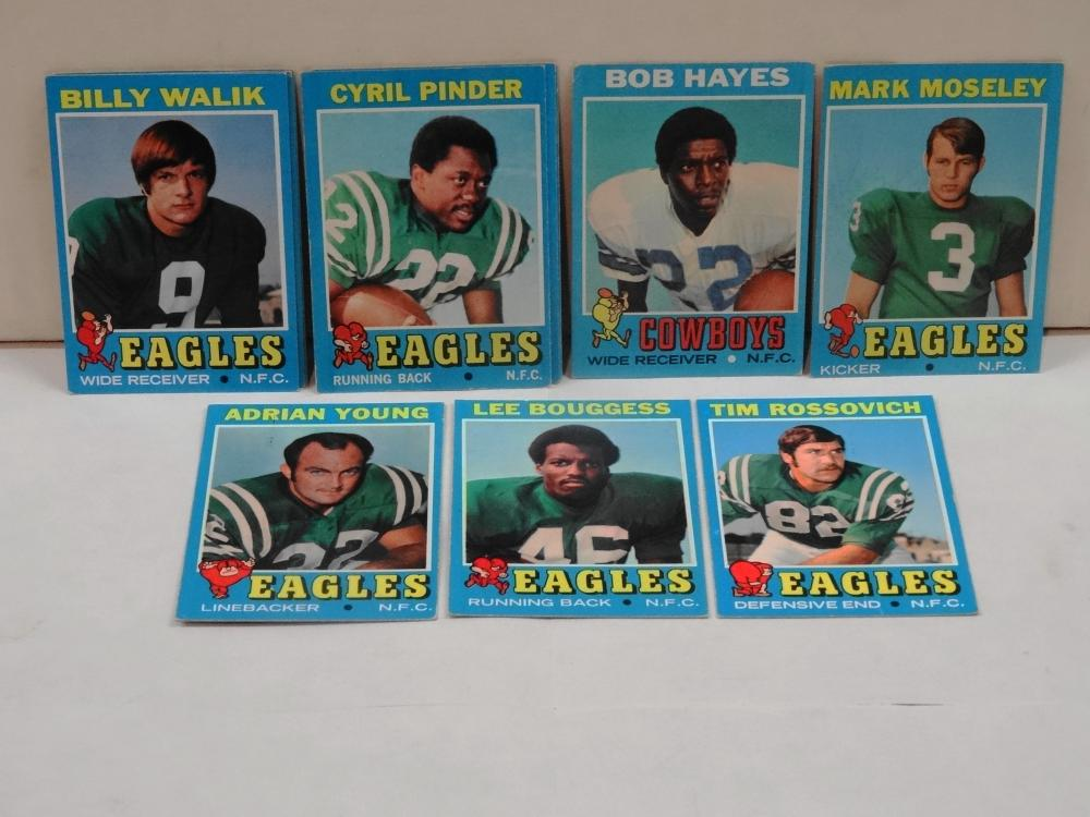 11 VINTAGE 1971 TOPPS FOOTBALL CARDS