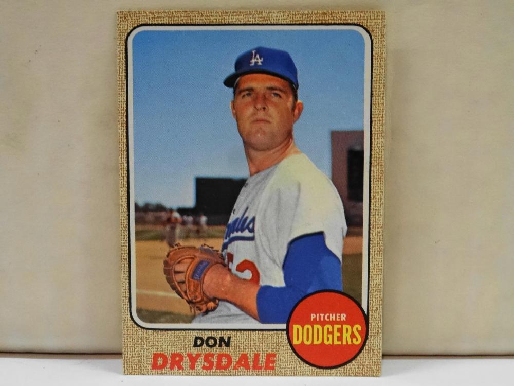 1968 TOPPS NO. 145 DON DRYSDALE BASEBALL CARD